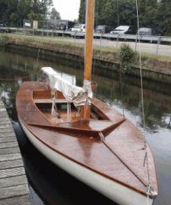 Zeilboot geschilderd met Perkoleum transparant Koopmansverfshop