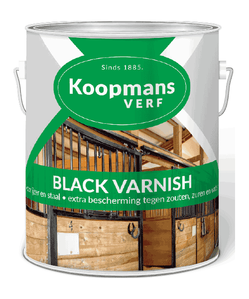 Black Varnish Koopmans Verf Koopmansverfshop